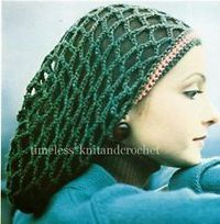 VINTAGE CROCHET PATTERN FOR A SNOOD / HAIR COVER-UP - crochet pattern only