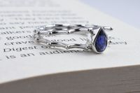 RiJuvel's Iolite Sterling Silver Ring- (Back To School Collection), Semi Precious Stone Studded,White Rhodium Plated Ring $18.99