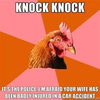 See more 'Anti-Joke Chicken' images on Know Your Meme!