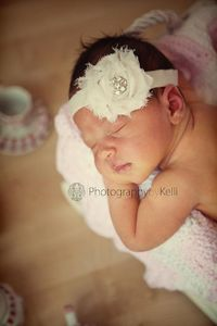 Bought this headband for Ava's newborn photos! by Bebebands on etsy