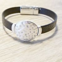 Jewelry for Men, Leather Wristband, Gifts for Men $28.00