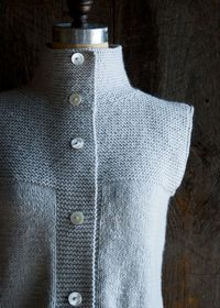 Purl Soho's Cardigan Vest | The Purl Bee