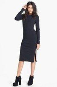 leith long sleeve knit midi dress