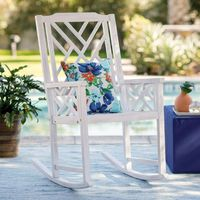 Belham Living Chippendale White Washed Outdoor Rocking Chair   from hayneedle.com