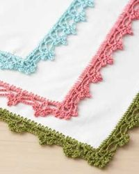 Free Pattern for lace napkin edging