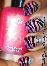 Zebra Nail Art with the Zoya Surf Collection