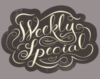 Weekly Special Type by Franklin Mill hand lettering typography illustration graphic design