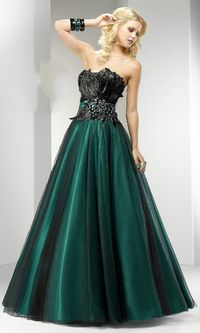 Ball Gown Strapless A Line Floor Length Satin Prom Dress