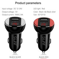 OLAF Dual USB Car Charger With LED Display Universal Fast Charge for iPhone for Samsung Xiaomi Huawei