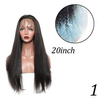 Glueless Full Lace Front Hair Wigs With Baby Hair Natural Hairline Straight NYUWA Hair Brazilian Remy Hair Lace Wigs $67.24