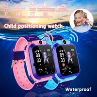 Z5 1.4in GPS Positioning HD Camera Voice Message SOS Anti-lost Chilren Smart Watch Phone LED Touch Screen Waterproof Flashlight Independent Dialing Kids Smart Bracelet