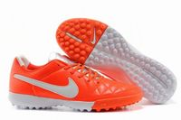 Nike Tiempo Legacy Turf Soccer Shoes Crimson White Silver