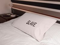 Slave a sexy ,dirty rude vulgar pillow case gag gift| batchelor party |batchelorette party | $19.95