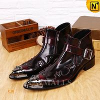 CWMALLS® Pointed Toe Leather Dress Boots CW706357