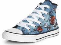 Converse CTAS Photo Real Hi Junior In Denim Size 5 Converse CTAS Photo Real Hi Junior These Converse Chuck Taylor Photo Real Hi Junior trainers are the ideal choice of footwear for fashionable kids With the classic laid-back style thats made the brand htt...