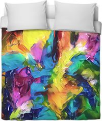 Painted Duvet Cover $120.00