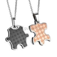 Gullei.com Jigsaw Puzzle Custom Name Couples Necklaces Set https://www.gullei.com/couples-gift-ideas/matching-couple-necklaces.html