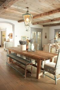 This rustic french style home designed by the oh-so-talented Desiree Ashworth of Decor de Provence was inspired by French, Gustavian, and Belgian design.