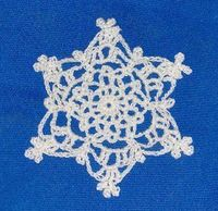 A steel crochet hook and crochet thread allow you to make this Frosted Snowflake crochet pattern. This is a very detailed pattern that you can put out during th
