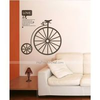 """Description: Size : 39.5""""W x 47.5""""H ( 100cm x 111cm ) Category : Quote Wall Sticker Material : Vinyl Wall Sticker Room :bedroom, living room, office Color:Brown, Black Includes:Black, Words"""