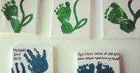 A cute idea for hand and feet prints! Made by Ryder, 1 year old �€� Art My Kid Made
