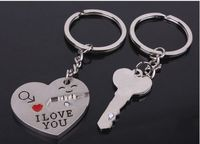 cute lovers with smile key chain