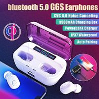 G6S TWS Wireless bluetooth Earphone 3500mAh Power Bank CVC8.0 Noise Cancelling IPX7 Waterproof Headphone with Mic