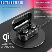 TWS G65 bluetooth 5.0 Wireless Earphone Dual Display 3500mAh Smart Touch Stereo Sports Hifi Headphones With Mic