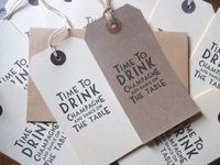 10 vintage deco ivory or buff 'Time to drink champagne and dance on the table' tags,wedding,save the date,birthday invitations on Etsy, 23,54kr