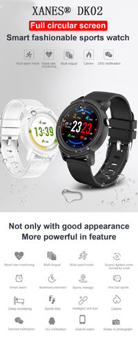 XANES® DK02 1.3'' IPS Color Touch Screen IP67 Waterproof Smart Watch Heart Rate Monitor Multiple Sports Modes Fitness Exercise Bracelet
