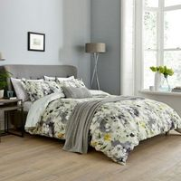 Simi Floral Bedding in Grey/Yellow by Sanderson at Bedeck