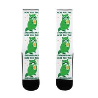 Here For The Shenanigans US Size 7-13 Socks $16.99 �œ� Handcrafted in USA! �œ� Support American Artisans