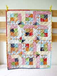 Baby Happy Quilt by zakkaArt on Etsy