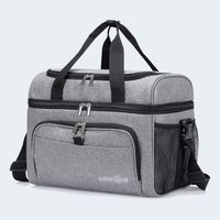 Insulated 36-Can Cooler Bag, 23L Double Decker Soft Cooler Soft-Sided Cooling Bag
