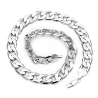 Premium 13mm Silver Plated Large Cuban Curb Chain Necklace £19.95