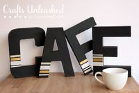 Craft a Cafe Sign from Paper Mache Letters