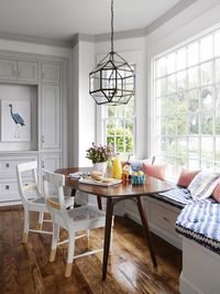 hgtv magazine, breakfast nooks and window seats.