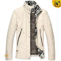 Mens Down Padded Leather Jackets CW846029