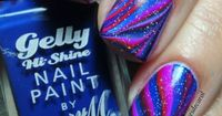 Colores de Carol: Barry M & China Glaze water marble nail art