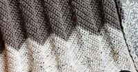 Rescued Paw made this beautiful neutral colored afghan in our Vanna's Choice yarn. Check out her crochet pattern!