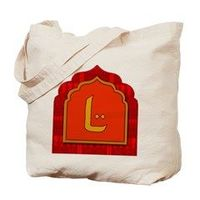 Letter L Moroccan Spicy Colors Monogram Tote Bag