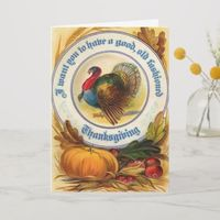 Old Fashioned Thanksgiving Card