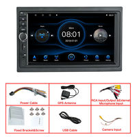 7 Inch for Android 8.1 Car Radio Stereo Quad Core 1+16G GPS Touch Screen HD bluetooth Hands-free OBD2 Support Rear View Camera