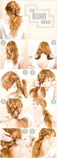 I need to learn how to french braid my hair just so I can wear my hair like this everyday