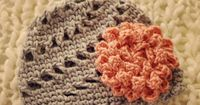 Pinwheel Beanie Hat and Flower Crochet Pattern by SunsetCrochet, $4.50