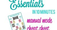 Manual Mode Cheat Sheet- free printable guide you can keep in your camera bag for on-the-go tips!