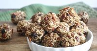 These yummy bites are complete nutrition power balls, balanced with protein, fat, fiber, and essential nutrients. Eat them as an energy-stabilizing snack or a m