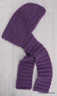 Suzies Stuff: CHILD'S HOODED SCARF