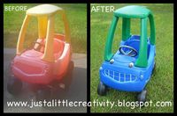 Plastic Krylon spray paint - For a community with a lot of young kids a few 'sets of wheels' painted in your communities colors (maybe add some stickers with your marketing) would be a great amenity. They always seem to be available on cra...
